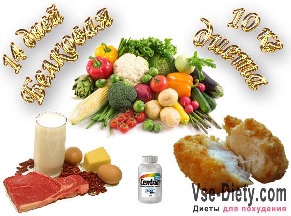 Белковая диета 14 дней - потеря веса 10 кг