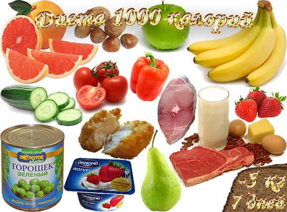 Меню на 1000 килокалорий