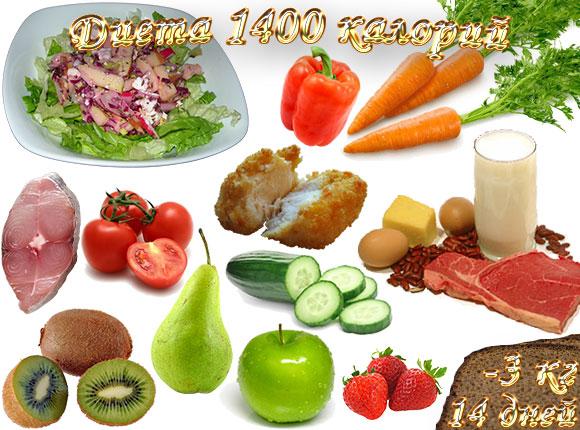 диета 1400 калорий