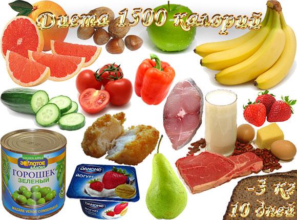 диета 1500 калорий