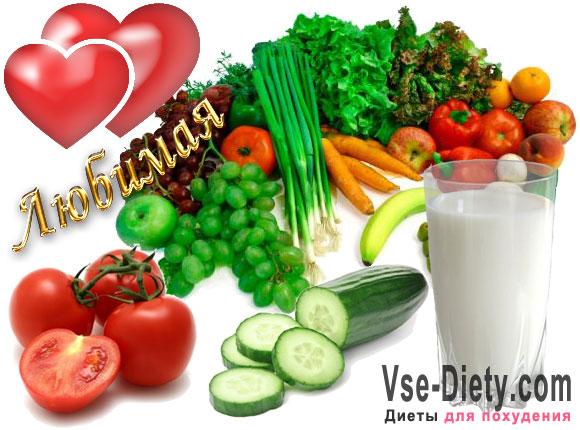 летняя диета на 10 дней результаты