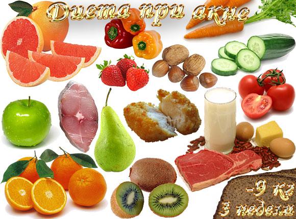 диета при акне