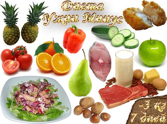 диета ужин минус