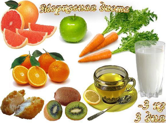 Морковная диета,3 кг, 3 дня